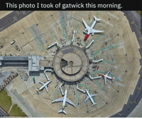Drones, Looking, and Photo: This photo I took of gatwick this morning. Not the drones you are looking for