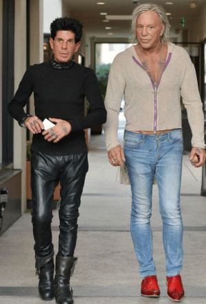 This photo of Mickey Rourke looks like they're prepping for an offbrand Zoolander movie: This photo of Mickey Rourke looks like they're prepping for an offbrand Zoolander movie