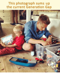 <p>The Generation Gap.</p>: This photograph sums up  the current Generation Gap <p>The Generation Gap.</p>