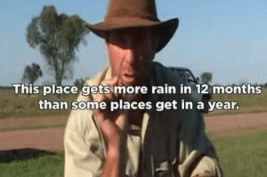 Rain, Show, and Months: This place gets more rain in 12 months  than some places get in a year. Just watching my favorite show..