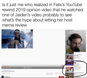 This post's only motive is to encourage Felix to let Jaiden host meme review: This post's only motive is to encourage Felix to let Jaiden host meme review