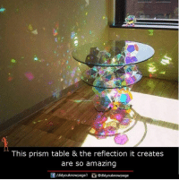 Memes, Amaz, and Amazing: This prism table & the reflection it creates  are so amazing  Of /didyouknowpagel  didyouknowpage