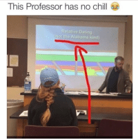 This teacher has no chill.: This Professor has no chill  Relative Dating  Not the Alabama kind) This teacher has no chill.