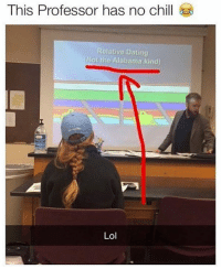 Dating: This Professor has no chill  Relative Dating  (Not the Alabama kind)  Lol