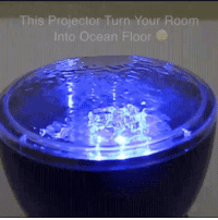 Tumblr, Blog, and Ocean: This Projector Turn Your Room  Into Ocean Floor novelty-gift-ideas:  Ocean Wave Projector
