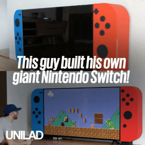 This guy built a huge Nintendo Switch and it looks incredible! 🎮 😱: This quy builthisown  giant Nintendo Switch This guy built a huge Nintendo Switch and it looks incredible! 🎮 😱