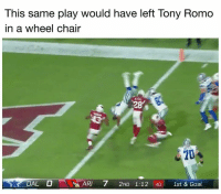 Dak's flip...: This same play would have left Tony Romo  in a wheel chair  28  20  DAL O  ARI 7 2ND 1:12 40 1st & Goal Dak's flip...