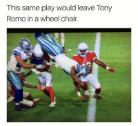 Tony Romo: This same play would leave Tony  Romo in a wheel chair.