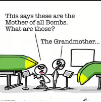 titsfordays moab motherofallbombs bomb boom pow bang sag boobs dropbombs pop slam lol joke funny: This says these are the  Mother of all Bombs.  What are those?  The Grandmother. titsfordays moab motherofallbombs bomb boom pow bang sag boobs dropbombs pop slam lol joke funny