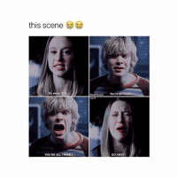 gm: this scene  theahsclub You're all wanta  x11  o away, Tate  YOU'RE ALL IHAVE  GO AWAY gm