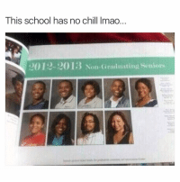 Lmao they wrong: This school has no chill lmao  201R-2015 Non-Graduating Seniors Lmao they wrong