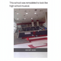I love this movie ❤️: This school was remodeled to look like  high school musical.  OH MY GOD I love this movie ❤️