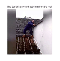 Lmao double tap if you laughed! 😭 check out @mustang_overload: This Scottish guy can't get down from the roof Lmao double tap if you laughed! 😭 check out @mustang_overload