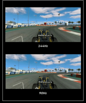 This screen refresh rate comparison: This screen refresh rate comparison