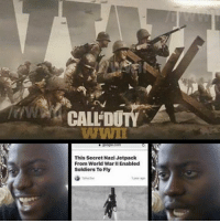 Funny, Memes, and Ps4: This Secret Nazi Jetpack  From World War I Enabled  Soldiers To Fly Exo-jumps in COD:WWII! ( ͡° ͜ʖ ͡°) - FOLLOW @the_lone_survivor for more - - PS4 xboxone tlou Thelastofus fallout fallout4 competition competitive falloutmemes battlefield1 battlefield starwars battlefront game csgo counterstrike gaming videogames funny memes videogaming gamingmemes gamingpictures dankmemes recycling csgomemes cod