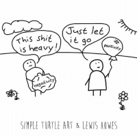 Memes, Let It Go, and Turtle: This Shid  s heavy  negativity  SIMPLE TURTLE ART & LENIS HOWES Don't hold onto negative thoughts or people. It will only hold you back from living your dreams and helping humanity. Instead, just let it go 🎈 . Fun art by @simple_turtle_art