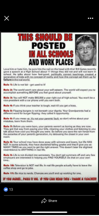 This should be posted in all schools and work places love - Cool things to have in your room ...