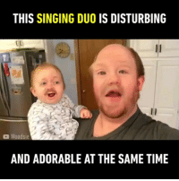 🔊Heavenly voice. Perfect duet 🎤Follow @9gag - - 📷@woodsie_tv - - 9gag faceswap drunkbaby dirtydancing: THIS SINGING DUO IS DISTURBING  Woodsie  AND ADORABLE AT THE SAME TIME 🔊Heavenly voice. Perfect duet 🎤Follow @9gag - - 📷@woodsie_tv - - 9gag faceswap drunkbaby dirtydancing