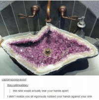 Memes, Bowl, and 🤖: this sink would actually tear your hands apart.  I didn't realize you all vigorously rubbed your hands against your sink and why are faucets always so close to the edge of the sink bowl?? like you have all this room so why??