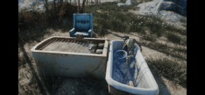 Movie, Time, and Perception: This skeleton might be a reference to the 2012 Dredd movie, there is a scene where the main villain is in the bath while taking a drug that slows the users perception of time