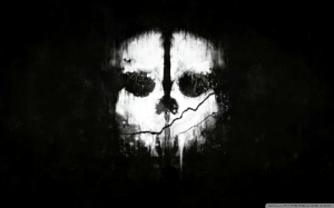 This skull image from Call of Duty Ghosts is actually a reference to the main villain's time spent in the jungle. Roarke was said to have been kept in a hole as he had his mind broken, and the skull is us looking up from his perspective. The eyes are meant to be two people looking down at him: This skull image from Call of Duty Ghosts is actually a reference to the main villain's time spent in the jungle. Roarke was said to have been kept in a hole as he had his mind broken, and the skull is us looking up from his perspective. The eyes are meant to be two people looking down at him