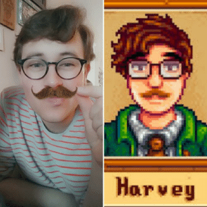 This snapchat filter turned my favorite IRL husband into my favorite Stardew husband!! [OC]: This snapchat filter turned my favorite IRL husband into my favorite Stardew husband!! [OC]