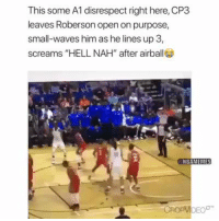 """This some A1 disrespect right here, CP3  leaves Roberson open on purpose,  small-waves him as he lines up 3,  screams """"HELL NAH"""" after airball  DEOO CP3 with the ultimate disrespect. 😂 Follow #NBAMemes https://t.co/1FE6SIj7ap"""