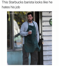 Fucking, Starbucks, and Dank Memes: This Starbucks barista looks like he  hates his job  dgraylang @drgrayfang is one of the few pages I think are fucking hilarious