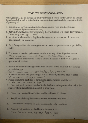 This strangely verbose assignment I got in psychology today.: This strangely verbose assignment I got in psychology today.