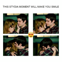 Memes, TV Shows, and Smile: THIS STYDIA MOMENT WILL MAKE YOU SMILE  G @TEENWOLFIGOFFICIAL the way stiles hold lydia 😍🔥 i can't ! @dylanobrienigofficial @hollandrodentheofficial 💞best couple of tv shows ever