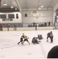 Memes, 🤖, and Suburban: This suburban Philadelphia high school quarterfinal game between Ridley and CBWest turned ugly as Ridley resorted to the Fisticuffs after falling behind 7-1. Many players walked away with broken bones and bruises. Local police were called to the scene - Swipe right to see both vantage points of this LineBrawl HighSchoolHockey RidleyFight CBWestFight HighSchoolHockeyFight StagedFight NHLDiscussion