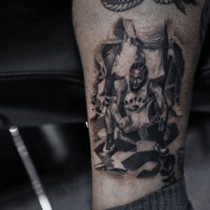 This tattoo of Kawhi watching his game-winner fall couldn't be any cleaner   (via kriistian/Instagram): This tattoo of Kawhi watching his game-winner fall couldn't be any cleaner   (via kriistian/Instagram)