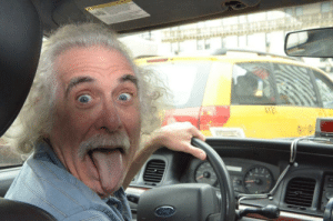 This taxi driver looks kinda familiar..: This taxi driver looks kinda familiar..