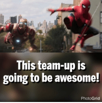 Memes, Spider, and Spiders: This team-up is  going to be awesome!  Photo Grid Like if you agree! The link to the Spider-Man: Homecoming trailer is in my bio 🤓
