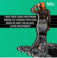 "Black Lives Matter, Martin, and Memes: THIS TEEN USED HER PROM  DRESS TO HONOR TRAYVON  MARTIN AND THE BLACK  LIVES MOVEMENT  Mic BlackLivesMatter ✊🏽✊🏿✊🏾 via @mic: ""Milan Morris showed up to her prom in Florida ready to make a statement — wearing a black lace dress covered with a collage of faces of some of the most famous victims of police brutality, including Trayvon Martin, Sandra Bland and Michael Brown. ""It was powerful. It was art. It was surreal. It spoke volumes,"" the designer told Essence. ""It was powerful and a movement and I knew people would respond to it."" - TrayvonMartin sayhername SandraBland MichaelBrown prom"