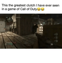 Funny, Call of Duty, and Game: This the greatest clutch I have ever seen  in a game of Call of Duty  35 We got JamesBond over here 😂 codwwii