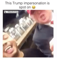 ⠀ 🌱So Good! 😂: This Trump impersonation is  spot on  ig  a bestvines ⠀ 🌱So Good! 😂