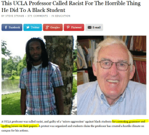 """Google, Protest, and Tumblr: This UCLA Professor Called Racist For The Horrible Thing  He Did To A Black Student  BY STEVE STRAUB 375 COMMENTS IN EDUCATION  f Facebool 