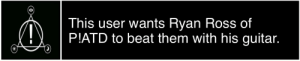 iwillsellmysoulforryanross:  songuserbox:For anon I want him to fucking murder me tbh: This us  P!ATD to beat them with his guitar.  er wants Ryan Ross of iwillsellmysoulforryanross:  songuserbox:For anon I want him to fucking murder me tbh