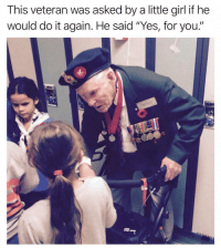 "RESPECT🇺🇸🇺🇸 trump Trump2020 presidentdonaldtrump followforfollowback guncontrol trumptrain triggered ------------------ FOLLOW👉🏼 @conservative.american 👈🏼 FOR MORE: This veteran was asked by a little girl if he  would do it again. He said ""Yes, for you."" RESPECT🇺🇸🇺🇸 trump Trump2020 presidentdonaldtrump followforfollowback guncontrol trumptrain triggered ------------------ FOLLOW👉🏼 @conservative.american 👈🏼 FOR MORE"