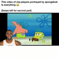 This is gold 😂: This video of nba players portrayed by spongebob  Is everything  (Swipe left for second part) This is gold 😂