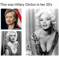 Hillary Clinton, Memes, and Been: This was Hillary Clinton in her 20's  SavageeBru She woulda been a president iif she stayed lookin like that 🤷🏽♂️ (@savageebruh)