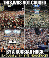 RE-POST THE TRUTH!  Nation In Distress: THIS WASNOT CAUSED  OUSAFORTRUMP  BYA RUSSIAN HACK  ENOUGH WITH THE NONSENSE! RE-POST THE TRUTH!  Nation In Distress