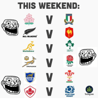 Frothing 🤤 rugby alltherugby nolifethisweekend: THIS WEEKEND  ALL BLacKs'  FFR  Wallabies  IRFU  ENGLAND  RUGBY  SPRINGBOK  UAR  WRU  MEMES  RUGBY  SCOTTISH  RUGBY  nstagram Frothing 🤤 rugby alltherugby nolifethisweekend