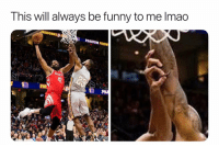 Basketball, Funny, and Lmao: This will always be funny to me lmao  REWORKS  PHANTOM FIREw That takes skill 😂 (Via jodackblack-Twitter)