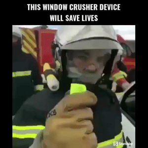 Memes, Videos, and Amazing: THIS WINDOW CRUSHER DEVICE  WILL SAVE LIVES  S Stumbler RT @StumblerTech: For more amazing tech videos follow @StumblerTech or visit https://t.co/0k7NutoUh1 https://t.co/XRrfTeq9ny