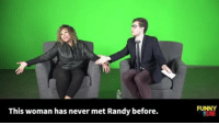 Craigslist Co-Host: We Found A Random Person To Co-Host This Fake Talk Show: This woman has never met Randy before.  FUNNY  8DIE Craigslist Co-Host: We Found A Random Person To Co-Host This Fake Talk Show