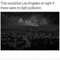 Follow me @creepy.fact for more ❤: This would be Los Angeles at night if  there were no light pollution. Follow me @creepy.fact for more ❤