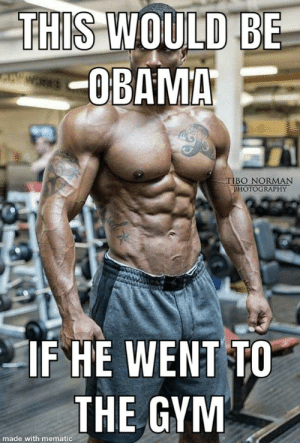 Gym, Obama, and Photography: THIS WOULD BE  OBAMA  CE MERKS  TIBO NORMAN  PHOTOGRAPHY  IF HE WENT TO  THE GYM  made with mematic Woaahhh