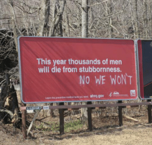 Club, Lean, and Tumblr: This year thousands of men  will die from stubbornness.  NO WE WONT  Lean tre pevernisws nedssu med ahrqgo laughoutloud-club:  Stubborn Men
